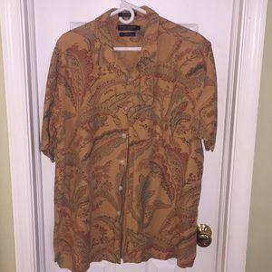 3/$20 Men's Linen Blend Paisley Button Down Shirt